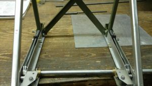 Seat track mock-up